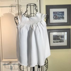 Forever 21 Crop Top White SZ L